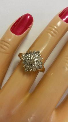 Size 5.75 Estate 14k Yellow Gold Diamond Ring by ThomasBrothers