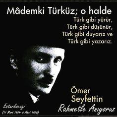 Türk Edebiyatının usta yazarı Ömer Seyfettin'i vefatının yıl dönümünde rahmetle anıyoruz.