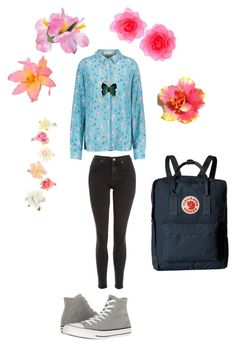 """""""Barnehage outfit 1"""" by pippahoel on Polyvore featuring Fjällräven, Topshop and Converse"""