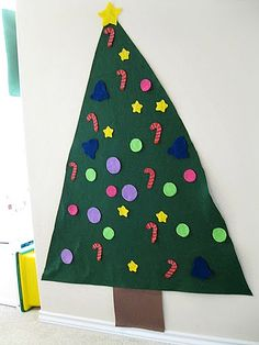 Felt Christmas Tree The Kids Can Decorate