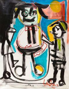 """""""Big Girl Jumping Rope"""" (180 x 141).  For more artworks, please visit Eden Fine Art's website."""
