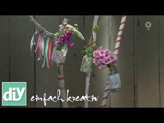 Stockvasen als Gartendeko fürs Sommerfest | DIY einfach kreativ - YouTube