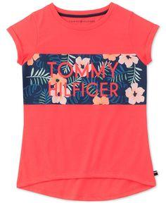 4d0357d0 Tommy Hilfiger Big Girls Tropic-Print T-Shirt & Reviews - Shirts & Tees -  Kids - Macy's