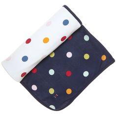 dancing dot newborn blanket / polarn o. pyret $42