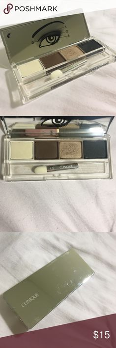 Clinique smokey eye shadow I have only used this eyeshadow once! The applicator has never been used. It is in fantastic condition! It is great eyeshadow, I just don't do a smokey eye very often Clinique Makeup Eyeshadow
