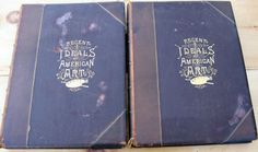 Offering for sale is this leather bound art book set titled Recent Ideals of American Art by George William Sheldon. The exquisite book set was Copyright by Appleton & Company Vol I (1890) Vol II (1888). The leather bound books show age patina and dried water stains throughout. The colorful inside front page is torn, ripped and one is lose from binding. The leather cover edges and shelf end show frays and front and back of covers show stains. I believe the books are inclusive and I have m...