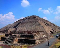 """Teotihuacan is an enormous archaeological site in the Basin of Mexico, just 30 miles northeast of Mexico City, containing some of the largest pyramidal structures built in the pre-Columbian Americas. The name Teōtīhuacān was given by the Nahuatl-speaking Aztec centuries after the fall of the city. The term has been glossed as """"birthplace of the gods"""", reflecting Nahua creation myths that were said to occur in Teotihuacan."""