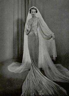 Wedding dress. Jeanne Lanvin. L'officiel de la Mode March 1935