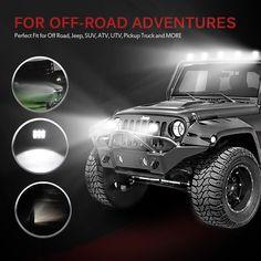 "Amazon.com: MICTUNING 2x 4"" 18W LED Lights Bar Spot Driving Fog lights Pods- 4x4 Off Road Boat Driving headlight: Automotive"