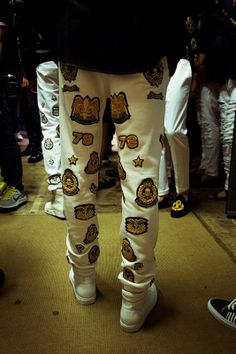 Gold patches backstage at Philipp Plein SS15, Milan menswear. More images here: http://www.dazeddigital.com/fashion/article/20416/1/philipp-plein-ss15