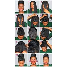 """Great """"pictorial"""" of how to spruce up your box braids. This style can also be applied to long twists, locs, or stretched hair."""