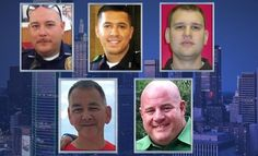 Prayers for the families of the slain peace officers  †