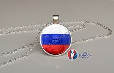 France 2016 Euro Cup Russia Group B  Pendant by Glassfulldreams