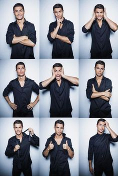 Cristiano Ronaldo - Cristiano Ronaldo Photos - Cristiano Ronaldo Launches His New Shirts Collection - Zimbio Pose Portrait, Portrait Photography Poses, Men Photography, Photo Poses, Photo Shoot, Cristiano Ronaldo Cr7, Cristino Ronaldo, Ronaldo Shirt, Cristiano Ronaldo Birthday