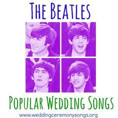 The Beatles Popular Wedding Songs