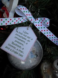 I Spy Ornaments- Awesome idea! I loved I Spy with the kids were young! (still do!!)