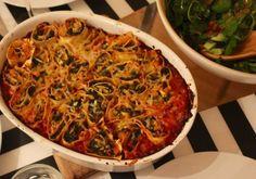 Jamie's Squash and Spinach Rotolo - Dutchess Roz