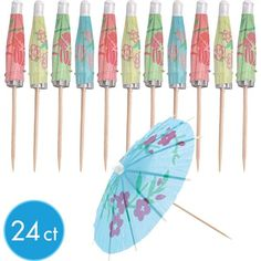 Jumbo Umbrella Picks 24ct
