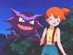 Haunter licks Misty on the face Pokemon People, All Pokemon, Pokemon Fan, Pokemon Stuff, Haunter Pokemon, Pokemon Tattoo, Cartoon Tv Shows, 90s Childhood, Sailor Mars
