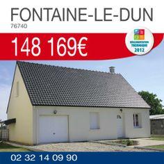 Découvrez notre offre maison terrain à FONTAINE-LE-DUN (76740) pour 148 169€ ! http://www.habitatconcept-fr.com/offre-216-maison-terrain-fontaine-le-dun-76740 #HabitatConcept