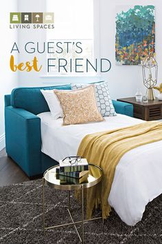 Give overnight guests a peaceful place to rest, and you can enjoy stylish seating in any room you . Beds For Small Spaces, Small Guest Rooms, Small Space Office, Small Sleeper Sofa, Small Sofa, Spare Room, Spare Bed, Multipurpose Guest Room, Contemporary Sleeper Sofas