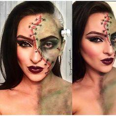 bride of frankenstein Cool Halloween Makeup, Halloween Party Costumes, Halloween Kostüm, Halloween Cosplay, Costume Ideas, Bride Of Frankenstein Halloween, Bride Of Frankenstein Costume, Frankenstein Face Paint, Frankenstein Wife