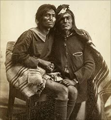 """""""Two-spirit people"""" Indigenous North Americans who fulfill one of many mixed gender roles found traditionally among many Native Americans and Canadian First Nations communities. Two-spirit people were seen as doubly blessed and were often looked to as religious leaders and teachers."""