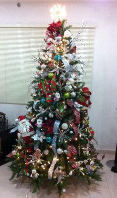 Christmas tree decor colorful