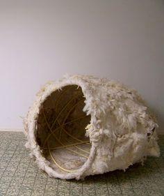 Performance (2008), raw wool felt, pvc tubing by Elis Vermeulen