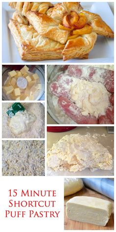 A 15 minute shortcut puff pastry method using one unusual ingredient that many would not be able to distinguish from the version that takes all day to make. No adding butter or re-rolling. Make it, chill it once and use it.