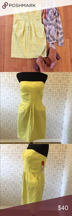 Yellow Strapless dre