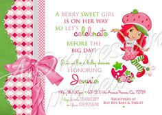 Strawberry Shortcake Baby Shower Invitation