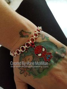 Superhero Helm Weave Chainmaille Bracelet Spiderman
