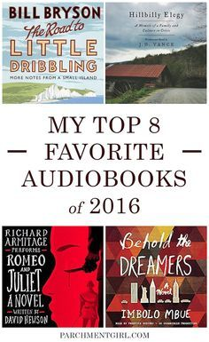 The Best Audiobooks of 2016 | Best books to listen to | audio book reading list