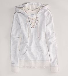 AE Lace-Up Hoodie   American Eagle Outfitters