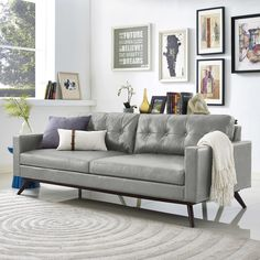 Blake Antique Grey Sofa | Overstock.com Shopping - The Best Deals on Sofas & Loveseats