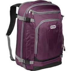 eBags TLS Mother Lode Weekender Convertible Junior This is the ultimate solution to hands-free travel. The new eBags Mother Lode TLS Weekender Convertible Travel Backpack Carry On, One Strap Backpack, Carry On Bag, Small Backpack, Eurotrip, Travel Gifts, Travel Bags, Travel Stuff, Travel Ideas