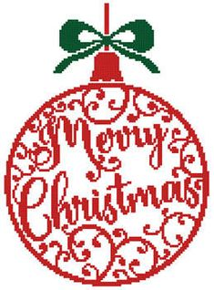 Christmas Bauble 1 - cross stitch pattern designed by Tereena Clarke. Category: Ornaments.