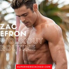 Zac Efron Workout Routine and Diet [Updated]:Train for Baywatch & More! - Workout at Home Shred Workout, Sixpack Abs Workout, Ripped Workout, Rowing Workout, Wod Workout, Athlete Workout, Workout Challenge, Ace Fitness, Health And Fitness Tips