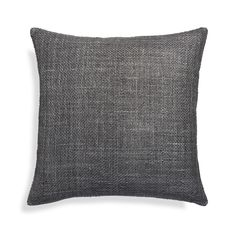 A subtle basketweave of grey linen-cotton yarn brings out a textural fiesta of tone-on-tone highlights in this casual, comfortable pillow.   An on-seam zipper and knife-edge tailoring adds to it a crisp, clean look. 59% linen and 41% cottonOn-seam zipperKnife-edge tailoringDry clean onlyCover made in IndiaFeather-down insert: 95% duck feather, 5% down fill (made in Thailand)Down-alternative insert: 100% polyester fill (made in China)Made in multiple countries.