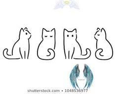 Minimalistische katten tekenset. Cat doodles in stockvector (rechtenvrij) 1018644190 Minimalistische katten tekenset. Cat doodles in stockvector (rechtenvrij) 1018644190<br>