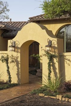 Mediterranean Home Hacienda With Court Yards Design, Pictures, Remodel, Decor and Ideas - page 14 Spanish Revival, Spanish Style Homes, Spanish House, Spanish Colonial, Spanish Courtyard, Front Courtyard, Courtyard Design, Courtyard Ideas, Hacienda Homes