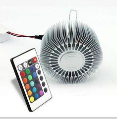 LED-Deko RGB Einbau-Lampe mit Fernbedienung- automatischer Farbwechsel !  Herzlich willkommen in meinem Shop ! Hier kaufen Sie sicher ein, ein Shop nach deutschem Recht ! Nutzen Sie jetzt alle Vorteile von LED-Licht: Energiekosten Rückerstattung Lange Lebensdauer angenehmes warmweisses Licht !