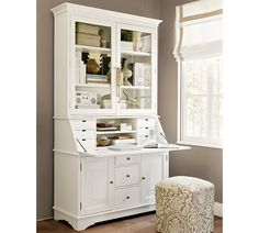 "Graham Desk & Hutch - pottery barn -  Desk: 49"" w x 20.5"" d x 43"" h - NO LONGER AVAIL Hutch: 51"" w x 14"" d x 45"" h"