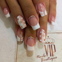 French Manicure Nails, French Tip Nails, Manicure And Pedicure, Gel Nails, Vip Nails And Spa, Nail Spa, Short Nail Designs, Toe Nail Designs, Chrome Nail Art