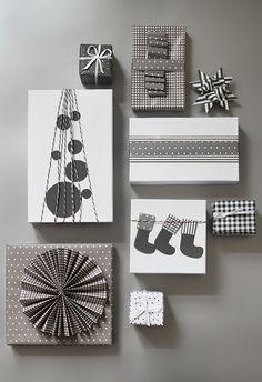 Christmas gift wrapping DIY