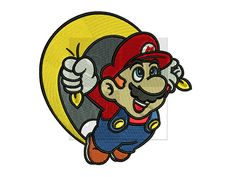 super mario flying Design for Embroidery by Sayitwithstitches1