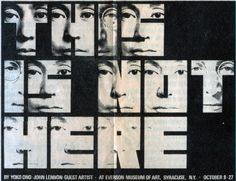 Yoko Ono and John Lennon research on fluxus movement in the Fluxus Movement, Fluxus Art, Everson Museum, Robert Rauschenberg, Ceiling Art, Yoko Ono, David Hockney, Design Graphique, John Lennon