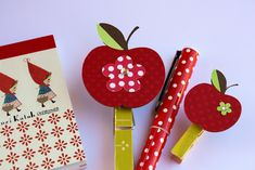 Apple clips. Too cute for displaying work!