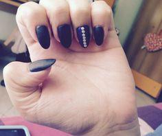 Mat blue navy nails ❤️